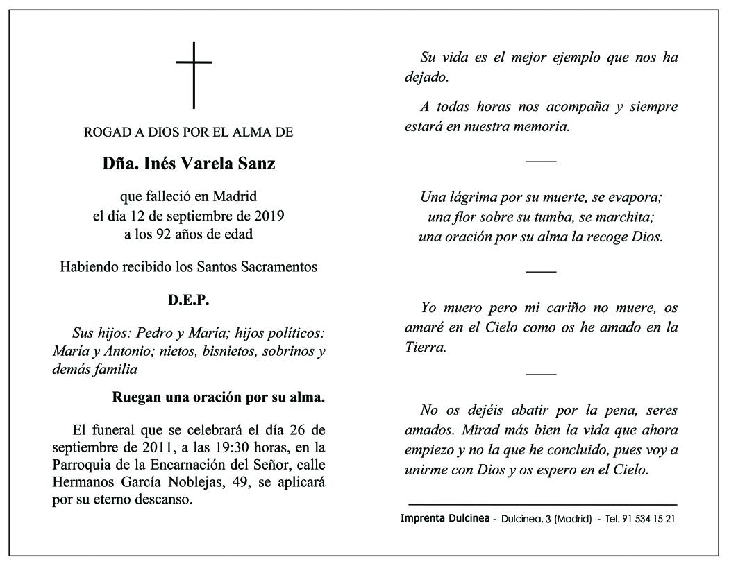 Recordatorios De Defunción Invitaciones De Boda Dulcinea